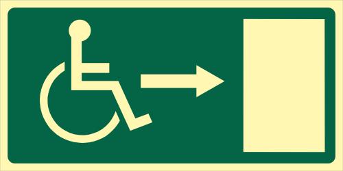 """Señalizacion """"salida emergencia accesible"""""""