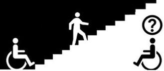 Dibujo de una persona subiendo una escalera