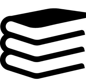 Dibujo esquematico de unos libros apilados