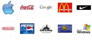 Varios iconos de marcas comerciales muy reconocidos