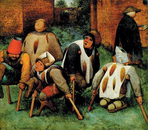Pintura antigua personas con discapacidad