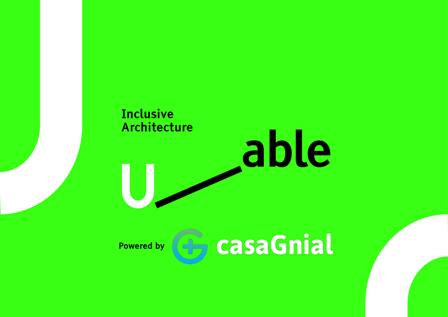 Logotipo de las empresas U-able y casaGnial que patrocinan al ponente