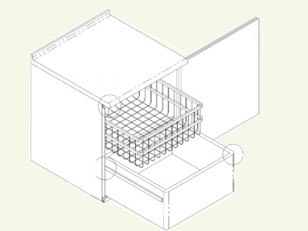Mueble con gavetas interiores